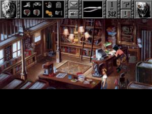 Ensimmäisen Gabriel Knight -pelin yleisnäkymä (1993). Kuvalähde: Wikipedia.