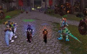 Näyte World of Warcraftin pelimaailmasta ja -hahmoista