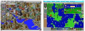 SimCity ja SimEarth (lähde: Wikipedia)