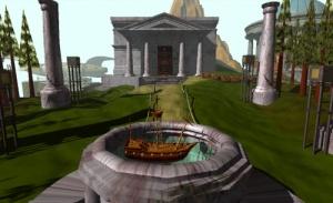 Näkymä Myst-pelistä (1993). Kuvalähde: Wikipedia.