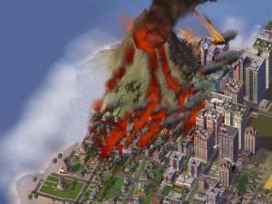 SimCity4 volcano eruption
