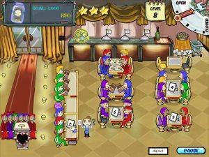 Diner Dash kasuaalipelissä pelaaja ohjailee tarjoilijaa ja pyrkii tasapainottelemaan asiakkaiden erilaisten vaatimusten välillä.