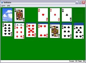 Microsoft Windows käyttöjärjestelmien mukana tuleva pasianssipeli.